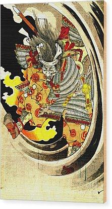 Ghost Of Warrior Tomomori 1880 Wood Print by Padre Art