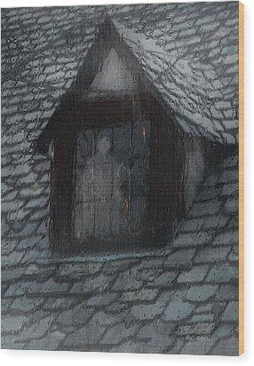 Ghost Rain Wood Print by RC deWinter