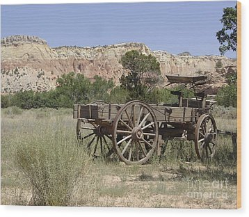 Ghost Ranch Wood Print by Mary Rogers
