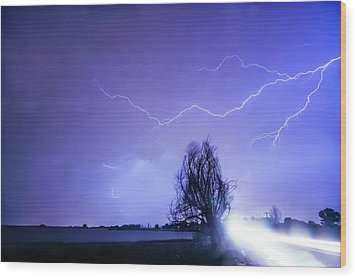 Wood Print featuring the photograph Ghost Rider by James BO Insogna