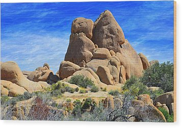 Wood Print featuring the photograph Ghost Rock - Joshua Tree National Park by Glenn McCarthy Art and Photography