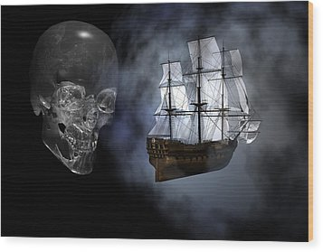 Ghost Ship Wood Print by Claude McCoy