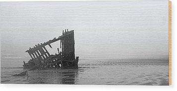 Ghost Ship Wood Print by Joseph Skompski