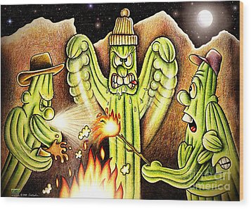 Ghost Story Wood Print by Cristophers Dream Artistry