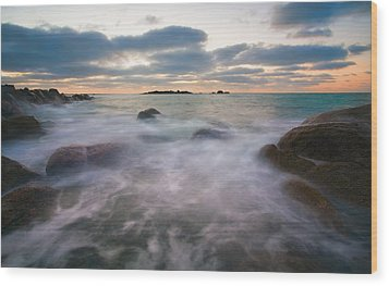 Ghost Tides Wood Print by Mike  Dawson