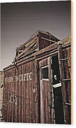 Ghost Town Caboose Wood Print by Patrick  Flynn