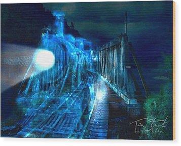 Ghost Train Bridge Wood Print by Tom Straub