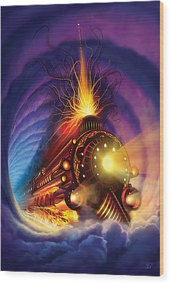 Ghost Train Wood Print by Philip Straub