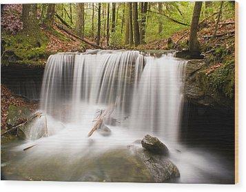Ghostly Waterfall Wood Print by Douglas Barnett