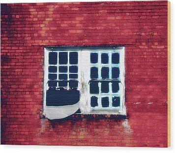 Ghostly Window Wood Print