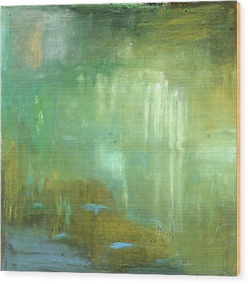 Wood Print featuring the painting Ghosts In The Water by Michal Mitak Mahgerefteh