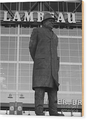 Ghosts Of Lambeau Wood Print by Tommy Anderson