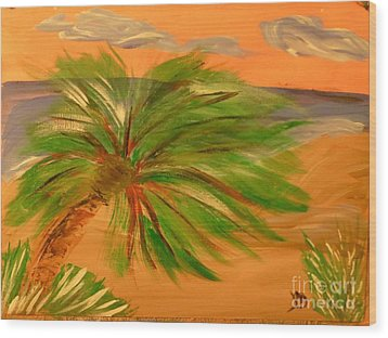 Giant Palm Tree Wood Print by Marie Bulger