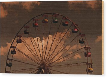 Wood Print featuring the photograph Giant Wheel by David Dehner