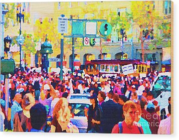 Giants 2010 Champions Parade . Photo Artwork Wood Print by Wingsdomain Art and Photography