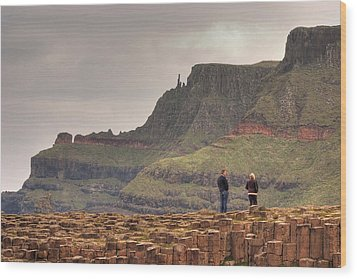 Wood Print featuring the photograph Giants Causeway by Ian Middleton