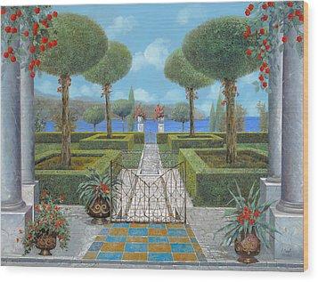 Giardino Italiano Wood Print by Guido Borelli