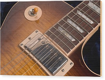 Gibson Les Paul Guitar By Gene Martin Wood Print
