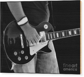 Gibson Les Paul Guitar  Wood Print by Randy Steele
