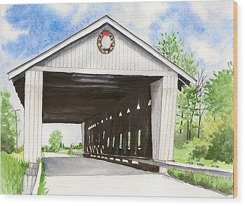 Giddings Road Bridge Wood Print