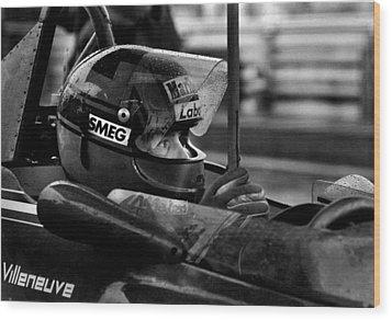 Gilles Villeneuve 1950-1982 Wood Print