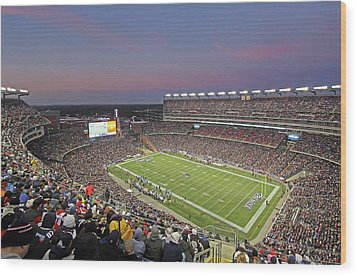 Gillette Stadium And New England Patriots Wood Print by Juergen Roth