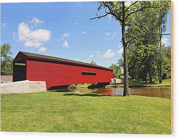 Gilpin's Falls Covered Bridge Wood Print