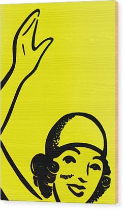 Gilr In Yellow Wood Print by John Gusky