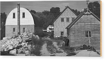 Gils Rock Harbor Wood Print by Stephen Mack