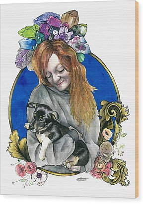 Ginger And Her Lovelies Wood Print by Arleana Holtzmann