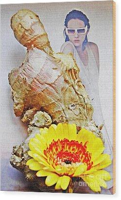 Ginger Man Wood Print by Sarah Loft