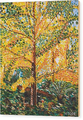 Gingko Tree Wood Print