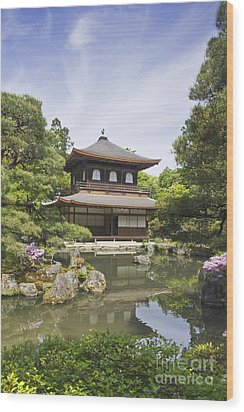 Ginkakuji Temple Wood Print by Rob Tilley