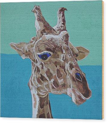 Giraffe Wood Print by Jamie Downs
