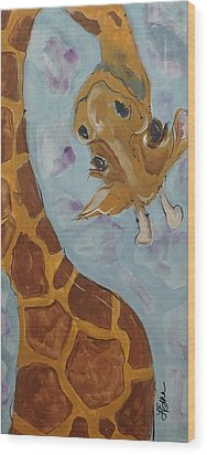 Giraffe Tall Wood Print