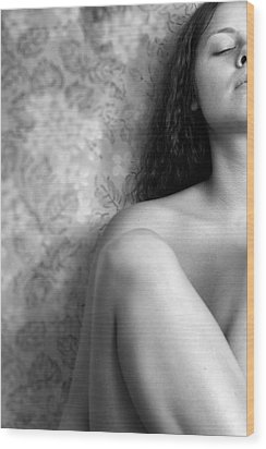 Girl #4529 Wood Print by Andrey Godyaykin