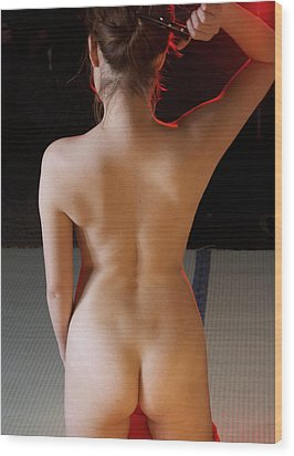 Girl-a View From Behind Wood Print by Tim Ernst
