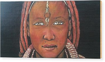 Girl From Africa Wood Print by Jenny Pickens