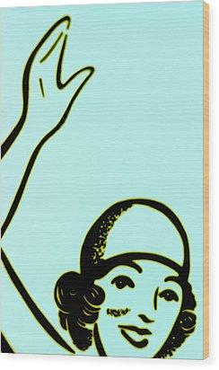 Girl In Blue Wood Print by John Gusky