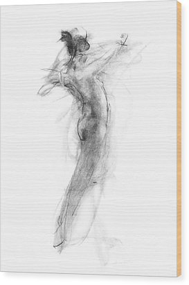 Girl In Movement Wood Print by Christopher Williams