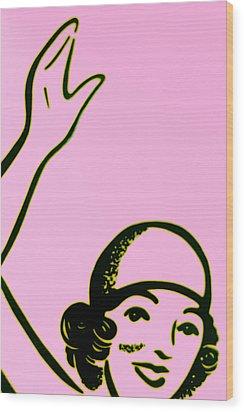 Girl In Pink Wood Print by John Gusky