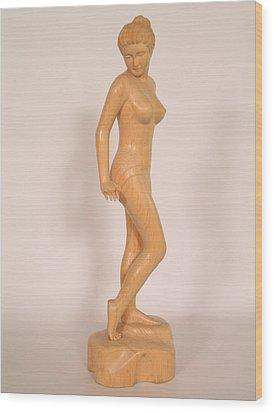 Girl Wood Print by Thu Nguyen