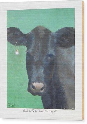 Girl With A Pearl Earring Iv Wood Print