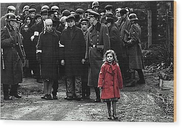 Girl With Red Coat Publicity Photo Schindlers List 1993 Wood Print