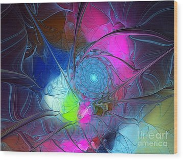 Wood Print featuring the digital art Girls Love Pink by Karin Kuhlmann