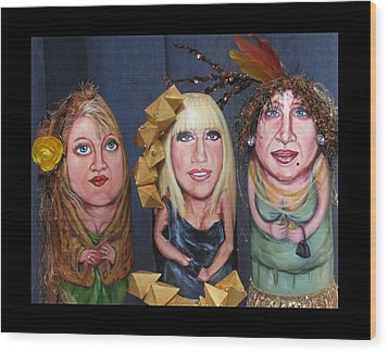 Girls Night Out Wood Print by Cathi Doherty