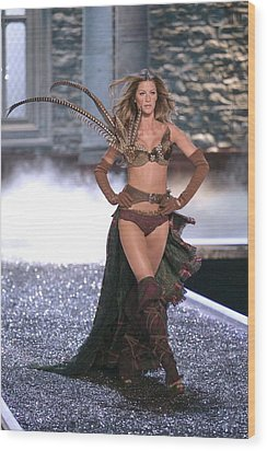 Gisele Bundchen At Fashion Show For The Wood Print by Everett