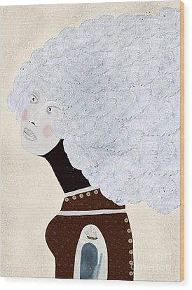 Wood Print featuring the painting Giulia by Bri B