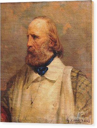 Giuseppe Garibaldi Wood Print by Pg Reproductions