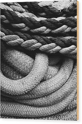 Give Them Some Rope Wood Print by Skip Hunt
